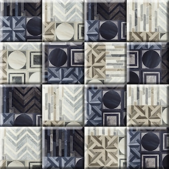 Floral gemusterte marmorboden- und wandfliesen. porzellan keramikfliesen. element für innenarchitektur, hintergrundbeschaffenheit.