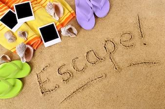 Flucht Strand Hintergrund