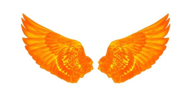 Flügel der vögel lokalisiert auf weiß
