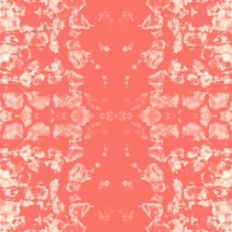 Flüssiger aquarelleffekt. abstrakte malerei der koralle boho. tie dye nahtloses muster.