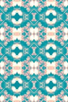 Flüssiger aquarelleffekt. abstrakte malerei der türkisfarbenen, rosa, goldenen boho. tie dye nahtloses muster.