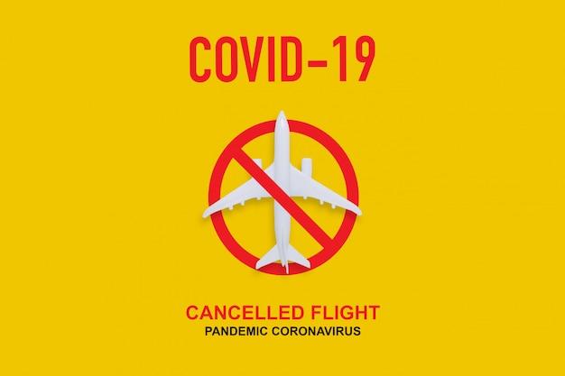 Flug abgesagt und zum schutz einer pandemie gesperrt.