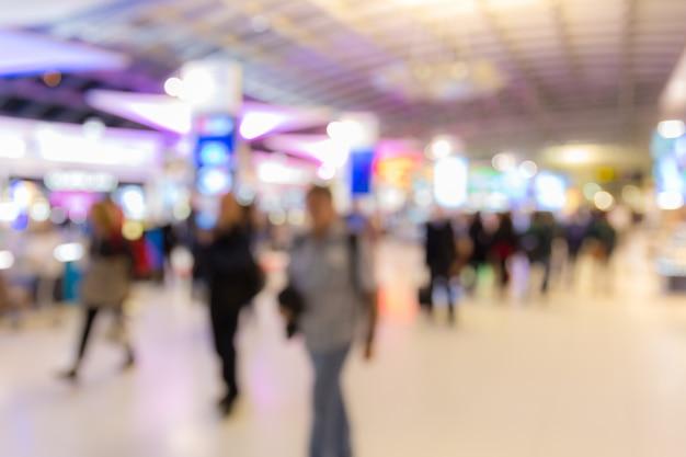 Flughafen-boarding-bereich unscharfer hintergrund