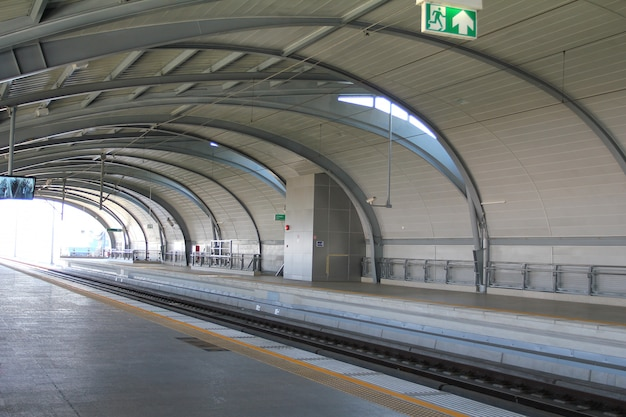 Flughafen link station in bangkok, thailand.