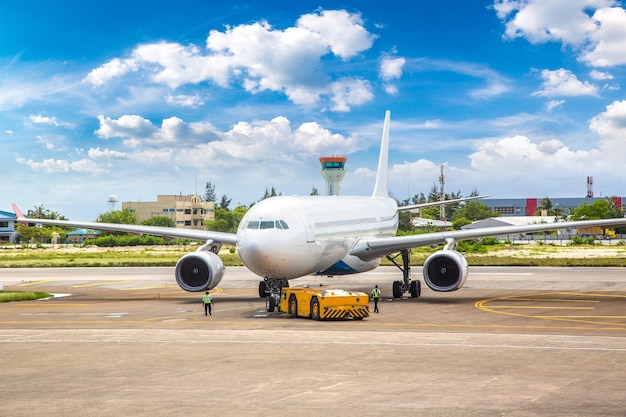 Flugzeug am hong kong international airport