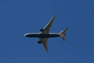 Flugzeug, blau