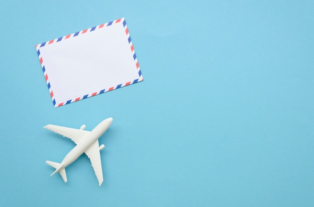 Flugzeug und grußkarte