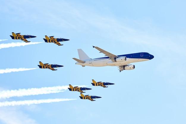 Flugzeug zeigen