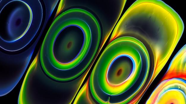 Fluide liquide kunst acryl ölfarben textur. hintergrund abstrakter mischfarbeneffekt. flüssiges farbiges acrylkunstwerk fließt spritzt. überfließende farben der flüssigen kunsttextur