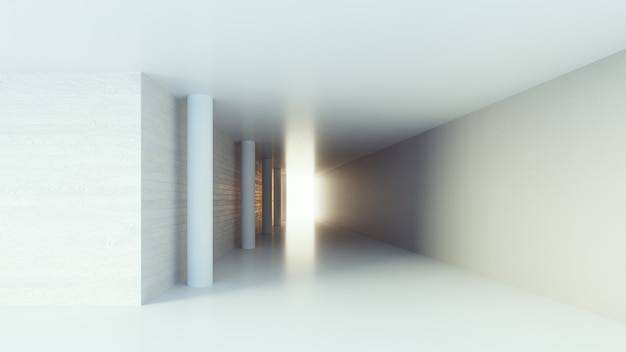 Flur interieur / 3d-rendering