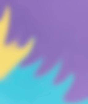 Fluss der defocused gelben und blauen farbe auf purpurrotem hintergrund