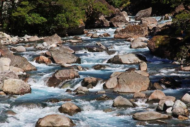 Fluss der südinsel, neuseeland
