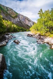 Fluss rapid auf dem chuya river