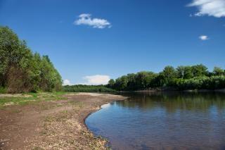 Flusslandschaft, farbe