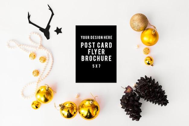 Flyer tagebuch postkarte weihnachten, kerze flach legen hintergrund kopie s