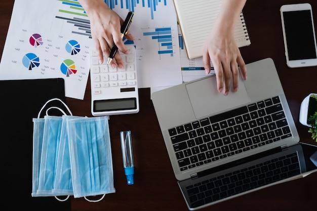 Fondsmanager verwenden rechner zur analyse investment stock market