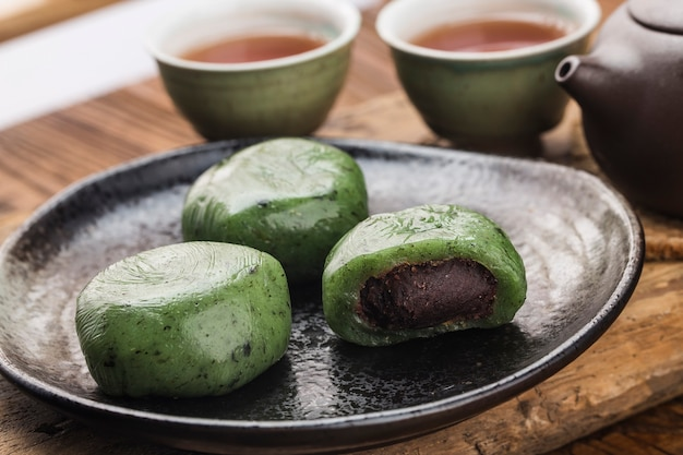 Food of tomb sweeping day festival in china-grünem knödel