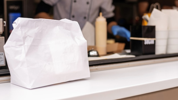 Foodtruck, fertige bestellung, fertig zum mitnehmen
