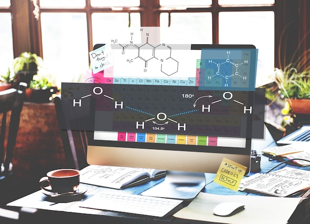 Formelexperiment atomchemie-konzept