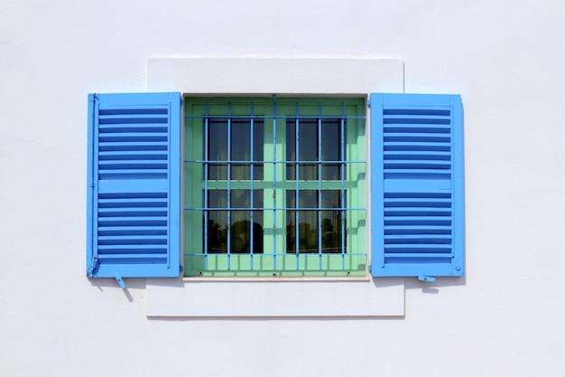 Formentera-hausfenster der architektur baleareninseln