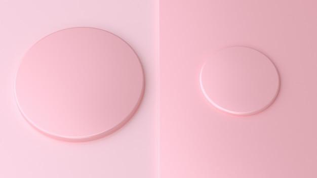 Formzusammenfassung mit zwei kreisen minimales geometrisches rosa