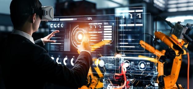 Fortschrittliches roboterarmsystem für die digitale industrie und die fabrikrobotertechnologie