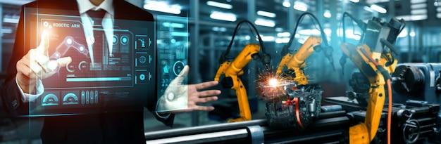 Fortschrittliches roboterarmsystem für die digitale industrie und fabrikrobotertechnologie