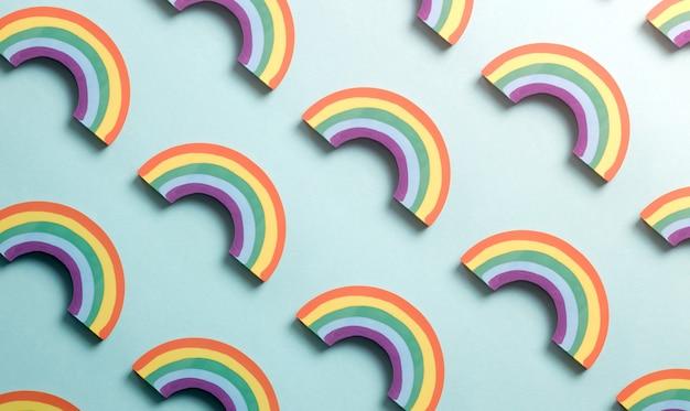 Fortschrittsstolz-flaggen-regenbogen-farben-hintergrund-muster. lgbt progress pride flag steht für inklusion und fortschritt