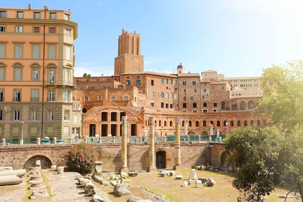Forum und märkte von trajan in rom, italien