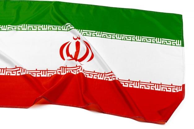 Foto der gewebeflagge vom iran