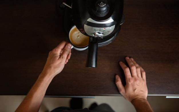 Foto der kaffeemaschine