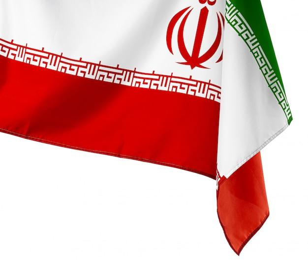Foto der stoffflagge des iran schließen