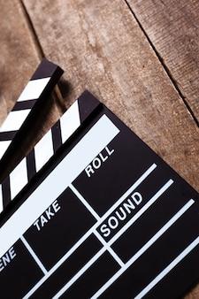 Foto des filmscharniers auf holz