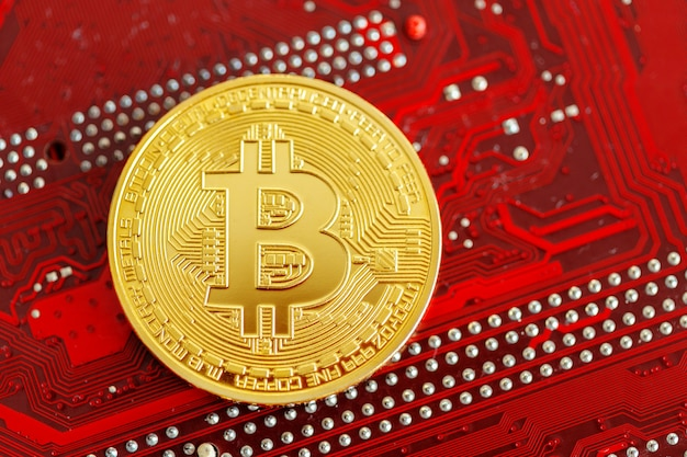 Foto goldenes bitcoin