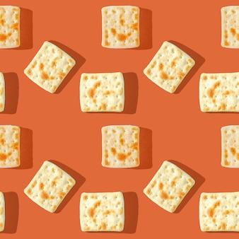 Foto in form eines nahtlosen musters. gelbbraune kekse
