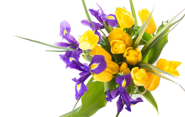 Foto mit frischen frühlingsblumen für jedes festliche design