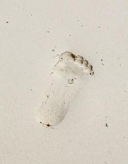 Foto von abdrücken im sand