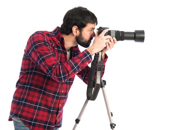 Fotograf, der ein foto macht