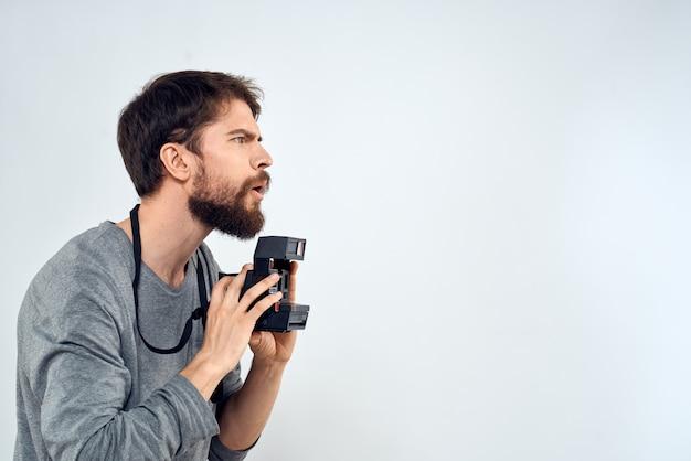 Fotograf mit kamera hobby technologie studio lifestyle kreatives licht
