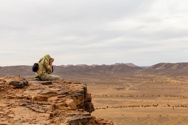 Fotograf, sahara-wüste
