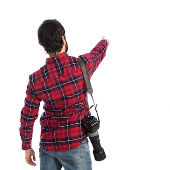 Fotograf zeigt zurück