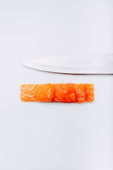 Fotografie des japanischen sashimi-lachssushi