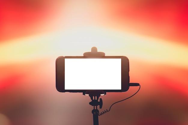 Fotografieren mit smartphone im konzert
