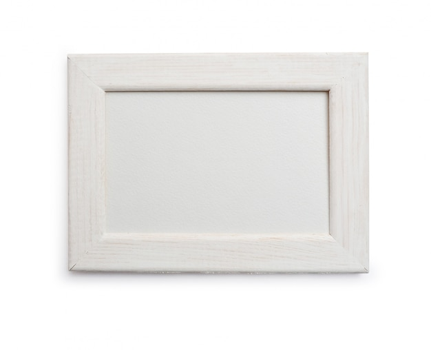 Fotorahmen auf lokalisierter ausschnittsmaske auf weiß