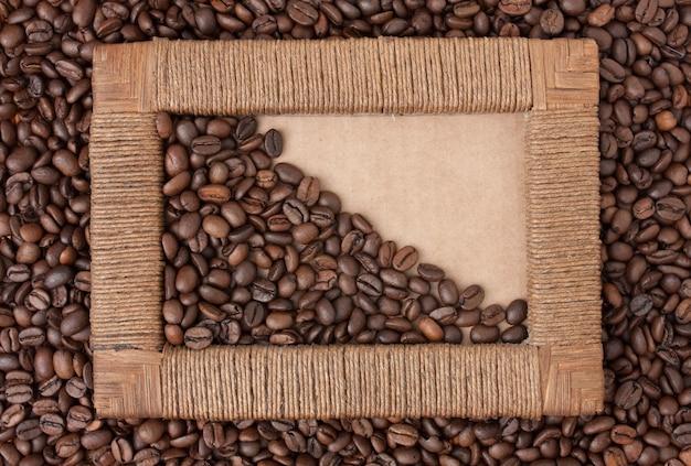 Fotorahmen von kaffeebohnen