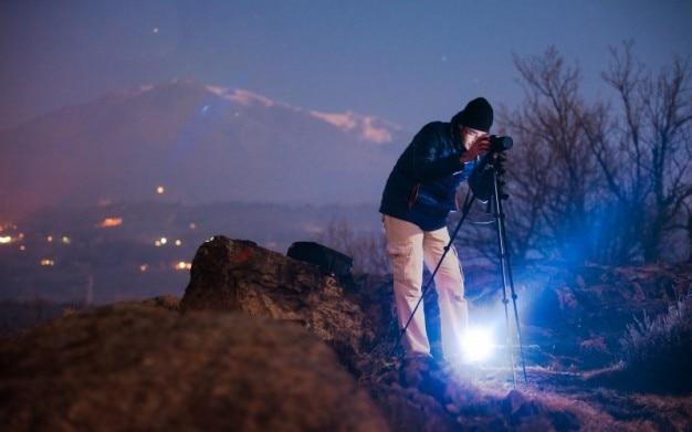 Fotoshooting in der nacht