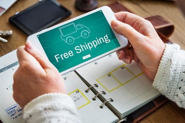 Fracht-express-lieferung kostenloser versand