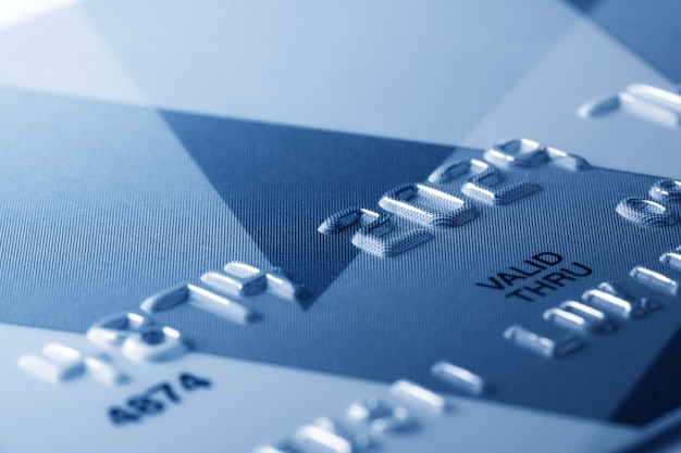 Fragment der kreditkarte