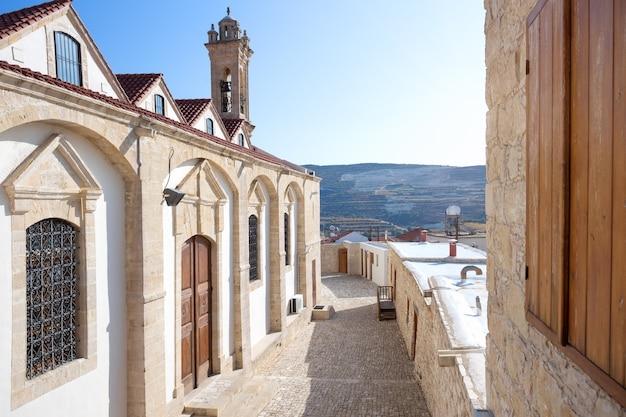 Fragment des kykkos-klosters auf troodos. zypern