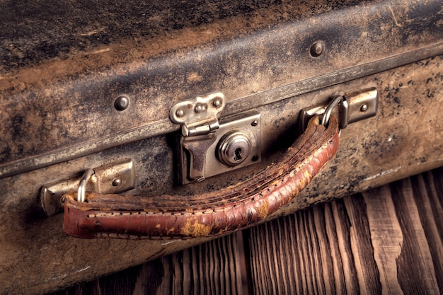 Fragment eines alten koffers